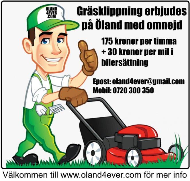 Gräsklippning erbjudes på Öland