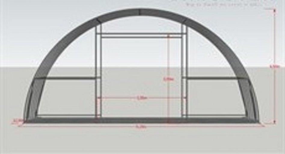 Rundbågehall  9,15 x 12 x 4,50 PVC
