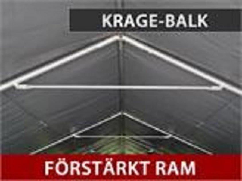 Lagertält PRO 5 x 4 x 2 x 3,39 m PVC Grå