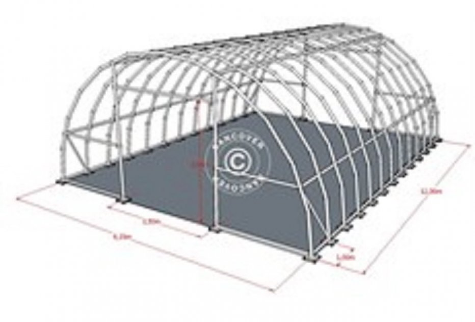 Rundbågehall  PLUS 9,15 x 12 x 4,50 PVC