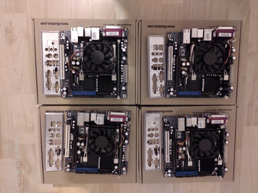 4 st. Moderkort KONTRON 886LCD-M/mITX !