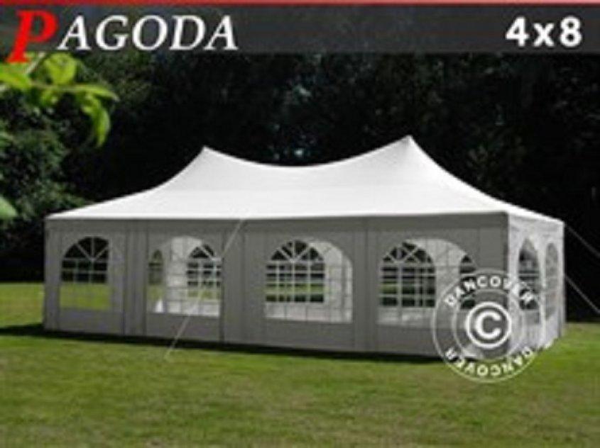 Partytält Pagoda 4 x 8 m Vit Nu! 6916:-