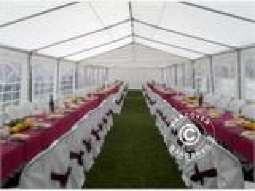 Partytält 4 x 8 m i kraftig polyesterduk