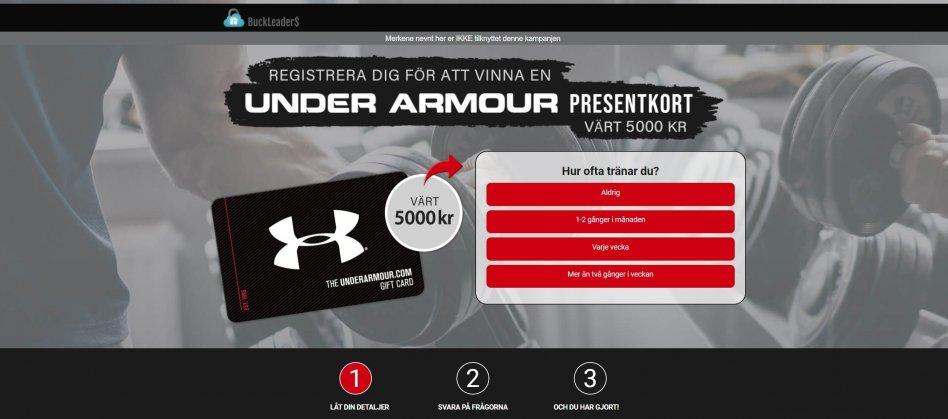 Presentkort Under Armour 5000Kr