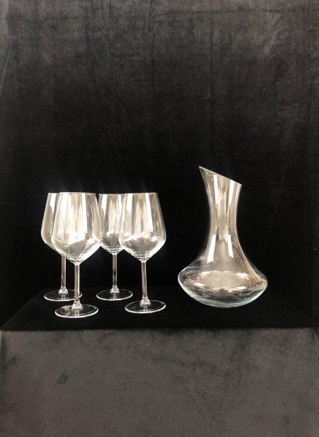 Karaff och 4 stycken glas