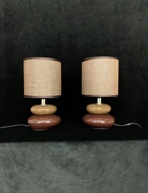 Harmoni bordslampor bruna