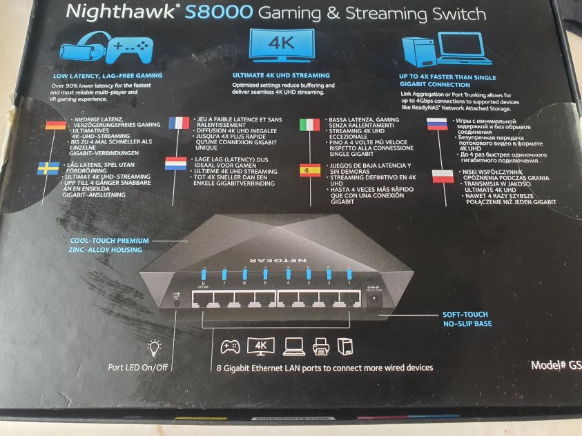 Netgear Nighthawk S8000 8-port switch
