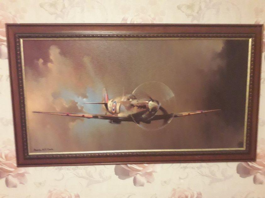 Tavla flyg Spitfire