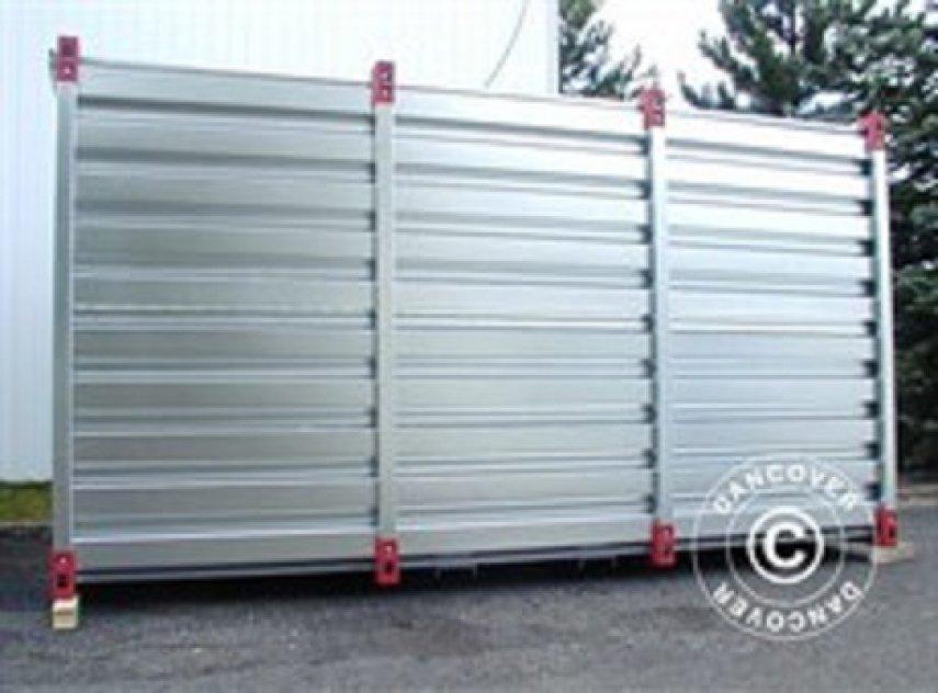 Containerförråd i stål  3 x 2,2 x 2,2 m
