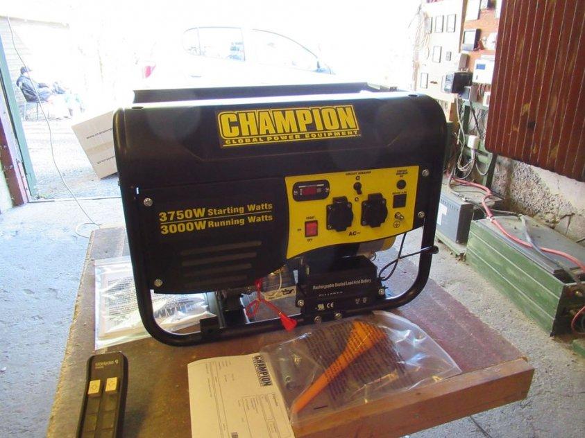 Elverk Champion 3000 watt med elstart