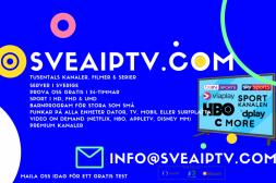 IPTV SVENSKA KANALER -40% I 24-TIMMAR KA