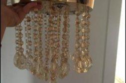 Kristallkrona (guldfärgad)