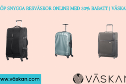 Köp resväskor online med 30 % rabatt
