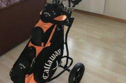 Golfset med golfbag och golfvagn säljes!
