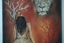 "Original oljemålning ""The wild ones"""