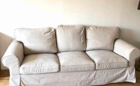 Ektorp soffa 3 sits Bortskänkes